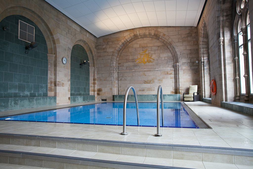 Shared heated swimming pool