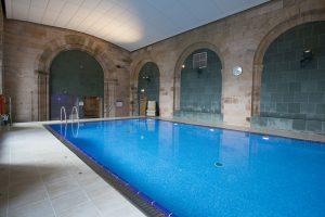 Heated pool with sauna and steam room