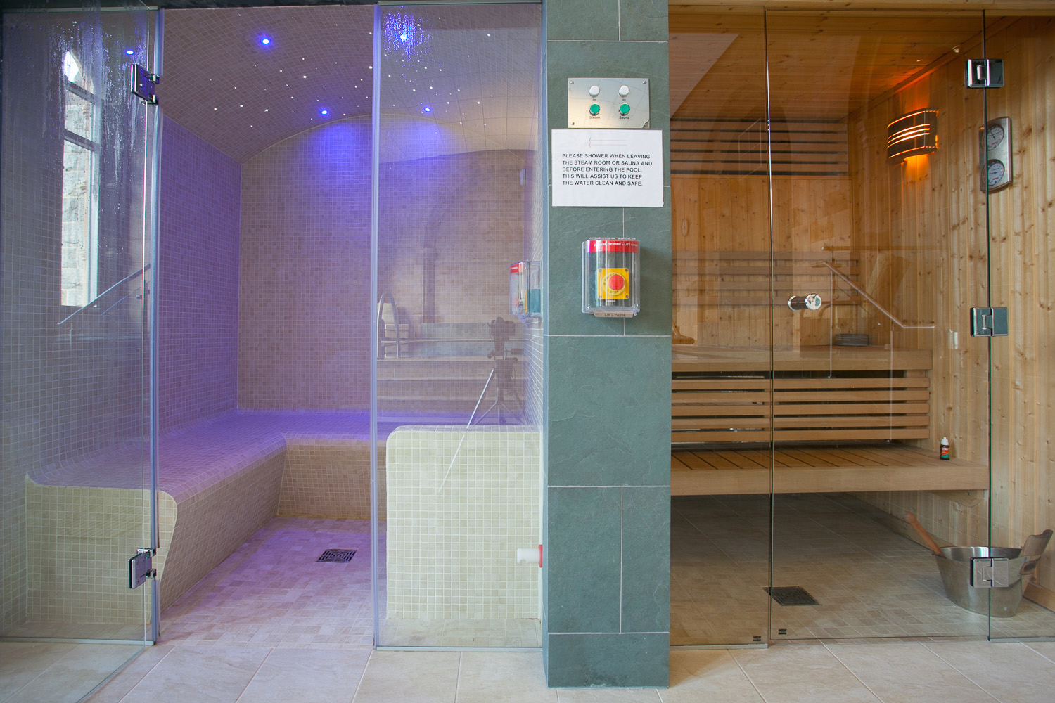 Sauna and steam room - perfect for relaxation