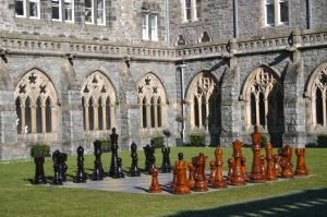 Giant Chess in The Cloisters