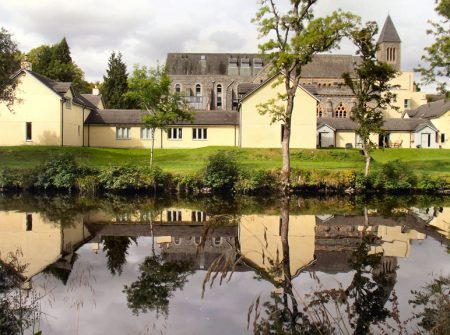 The Courtyard Cottages from the River Tarff