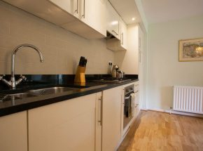 Granite worktop and integrated kitchen