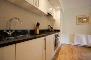 Granite worktop and integrated kitchen