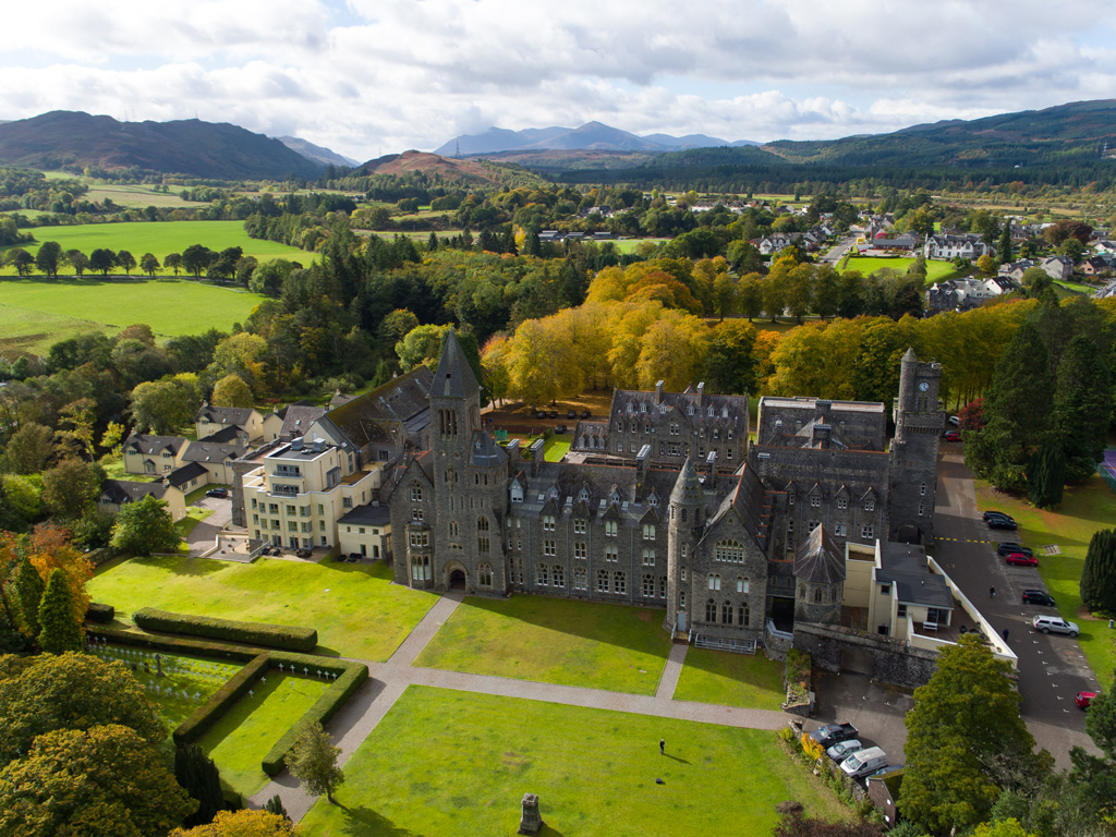 Highland Club Scotland from above
