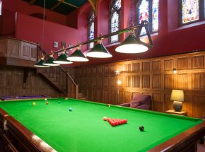 The Club Lounge with snooker table