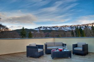 Loch Ness holiday home with private terrace
