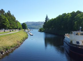 The nearby Caledonian Canal empties into the famous Loch Ness.