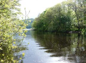 The River Tarff is popular with canoeists.
