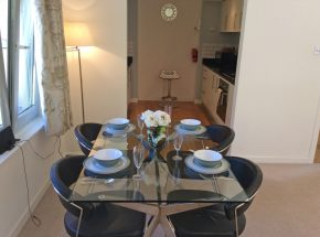Bruach, kitchen and dining table