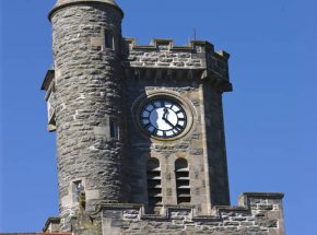 The Caledonian sits beside the Clock Tower