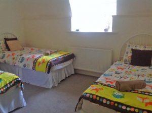 Moat House 1 twin bedroom, comfortably sleeps 3