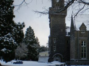 The Clock Tower at The Old School section