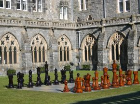 The Highland Club Giant Chess in The Cloisters