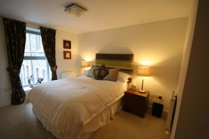 Master bedroom is also stylish and warm