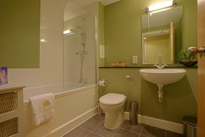Shower over bath in your private bathroom