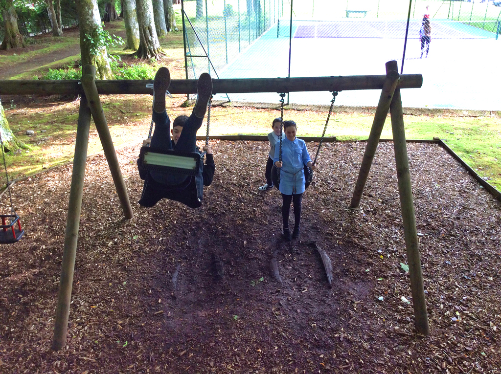 Swings in the Adventure Playground