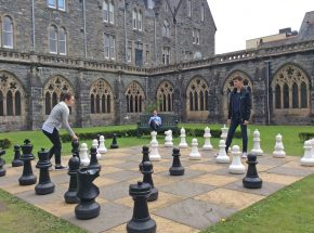 Giant Chess in The Cloister Gardens