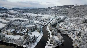 Highland Club Scotland in the snow