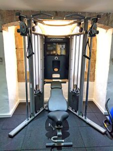 Fitness studio, cable cross over multi gym