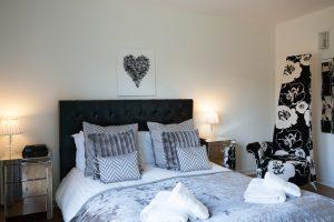Loch Ness holiday home master bedroom