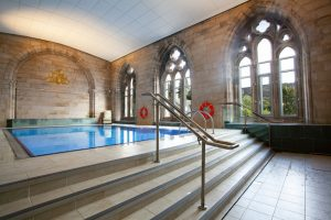 Shared, heated swimming pool