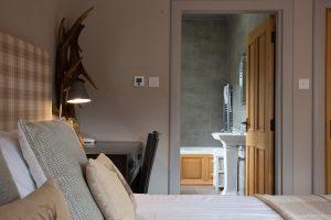 En suite bathroom with heated floor tiles