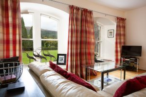 Loch Ness apartment Glendoe with arched windows