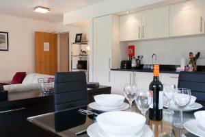 Loch Ness accommodation open plan living area