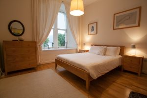 Nevis double bedroom with views of Loch Ness