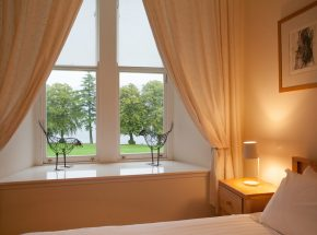 Double bedroom with views of Loch Ness
