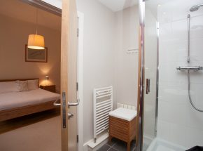 En suite bathroom with shower cubicle