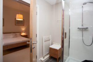 En suite bathroom with shower cubicle