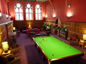 Club Lounge with free WiFi and professional size snooker table