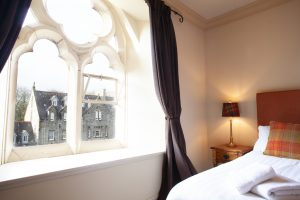 Second bedroom has view over the Cloisters