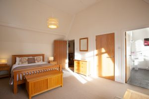 Master bedroom is bright, airy and spacious