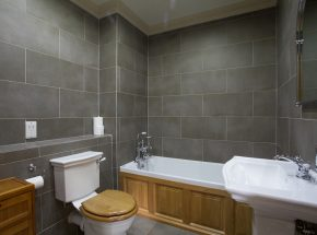 Family bathroom with heated floor