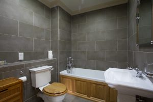Family bathroom with heated floor
