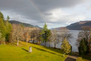 The view from Gruinyards Loch Ness living room