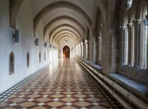 The Cloister Corridor leading to the Club Lounge