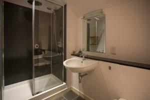 Second bathroom has separate shower