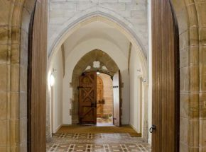 The Scriptorium entrance from the Cloisters
