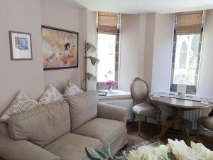 Scriptorium Garden bright and comfortable living area