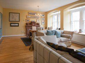 Livingstone sitting area with original sash and case windows