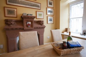 The original fire place with surrounded stunning photography
