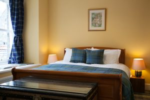 The master bedroom is also beautifully furnished and decorated