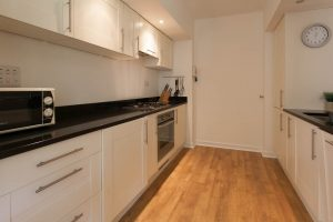 The kitchen is well equipped to give you a real home from home