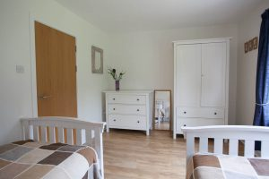 Well furnished twin bedroom