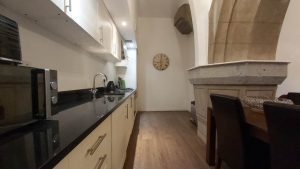 Stylish granite work top and integrated appliances
