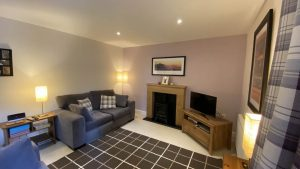 Inver at Highland Club Scotland has a cosy and romantic living room