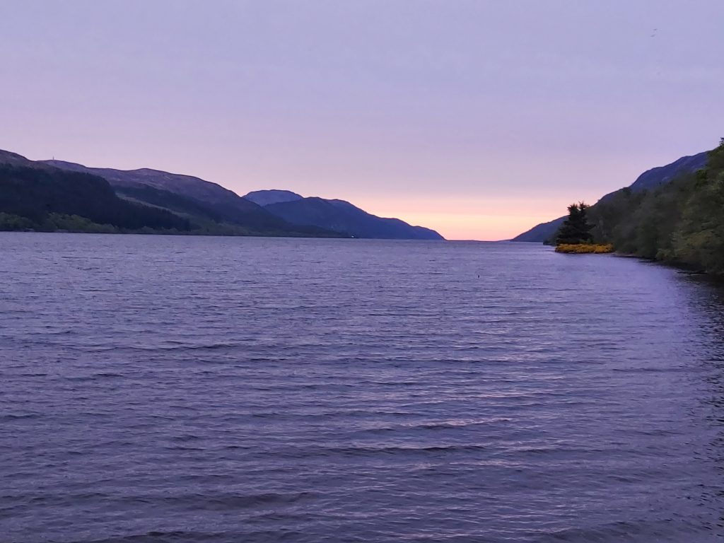 Loch Ness at sunset. Dream now, visit later.